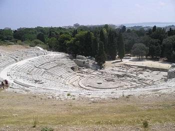Виды Греческого театра в Сиракузах